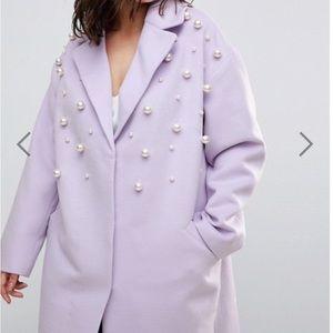 ASOS CURVE Pearl Coat